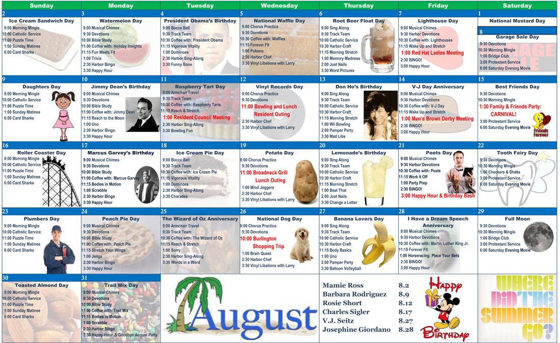 august 2015 image of calendar
