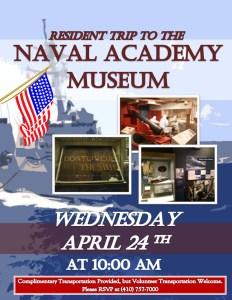naval academy museum flyer