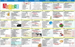 Annapolis Assisted Living Activity Calendar August 2019