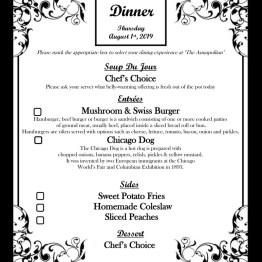 Dinner Menu - 08-01-19
