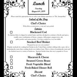 Lunch Menu - 08-06-19