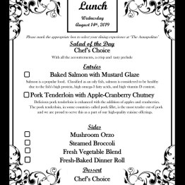 Lunch Menu - 08-14-19