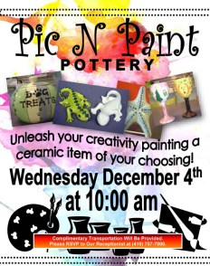 pottery event flyer
