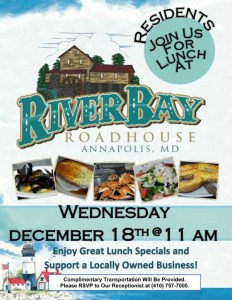 lunch out at river bay roadhouse flyer