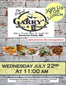 catered lunch from Garrys flyer