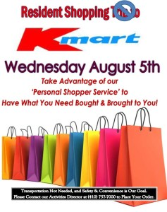 shopping trip flyer