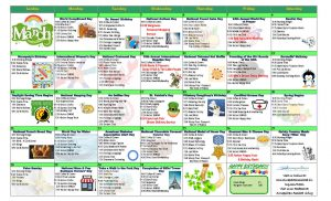 image of assisted living resident activity calendar