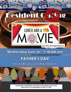 movie matinee flyer