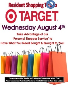 annapolis assisted living shopping trip flyer
