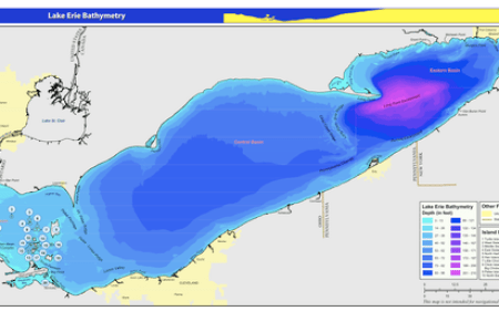 Map Depth Of Lake Erie Free Wallpaper For MAPS Full Maps - Lake erie topographic map