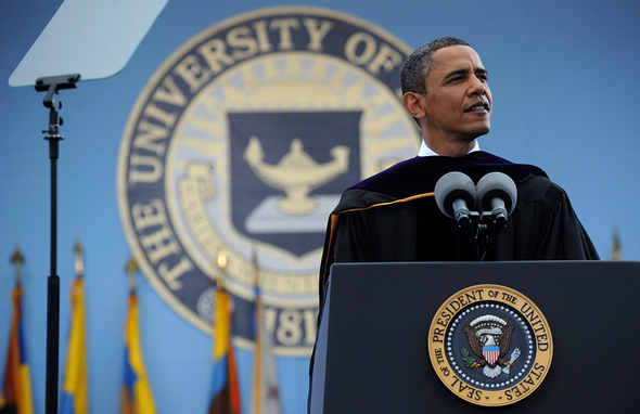 Image result for President Obama at Michigan Commencement