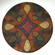 "Celestial Navigation by Barb Schutzgruber. Wet felted and stitched. 24"" Diameter. www.WeaveStory.com"