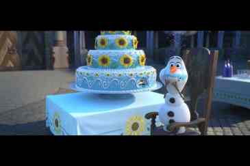 Frozen Fever Olaf Cake
