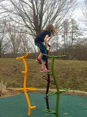 Mess Free Playgrounds - Gallup Park - Climbing Poles