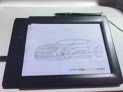 Family Friendly Auto Show Activities - Chevrolet My Camaro Sketch