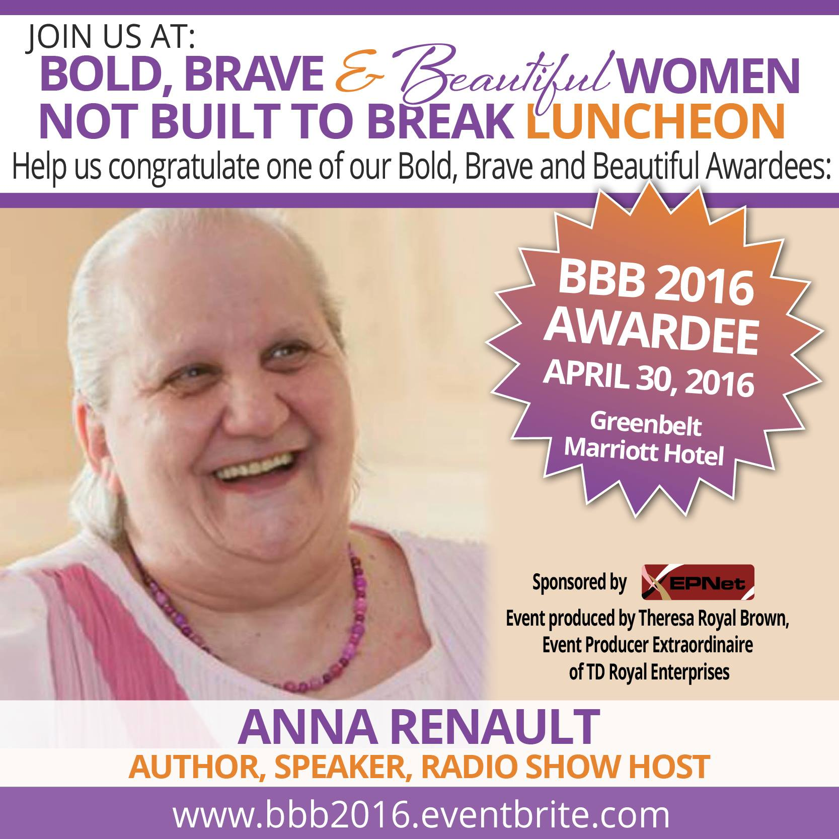 Anna Renault - BBB Awardee