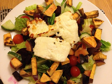 Halloumi and sweet potatoe