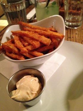 Giraffe sweet potato fries