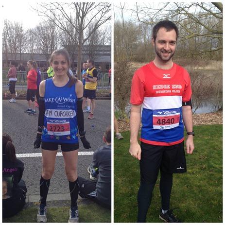 At start half marathon
