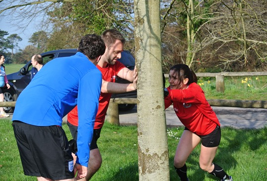 Parkrun stretching