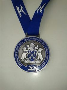 Reading half marathon 2014 medal