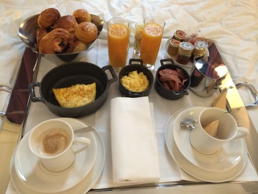 Breakfast in bed in Paris