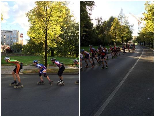 Berlin marathon skaters