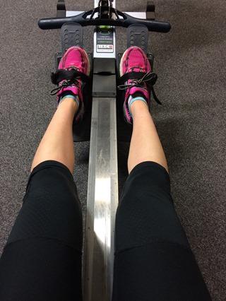 Rower workout selfie