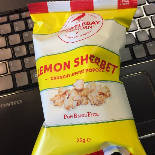 Lemon Sherbert popcorn