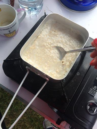 Porridge camping