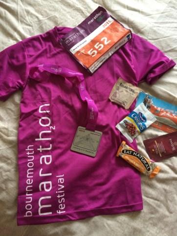 Bournemouth marathon goodie bag