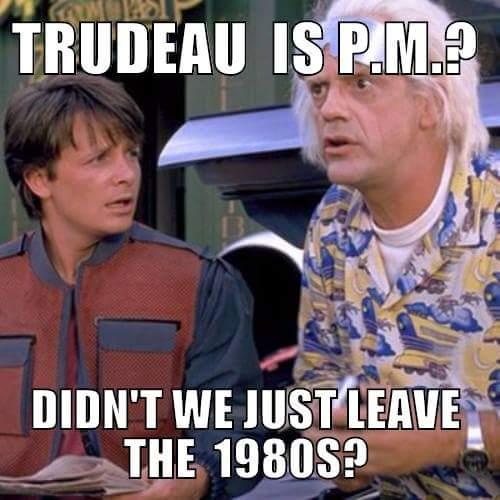 Trudeau premier ministre? Mais n'avons-nous pas quitté les années 1980?