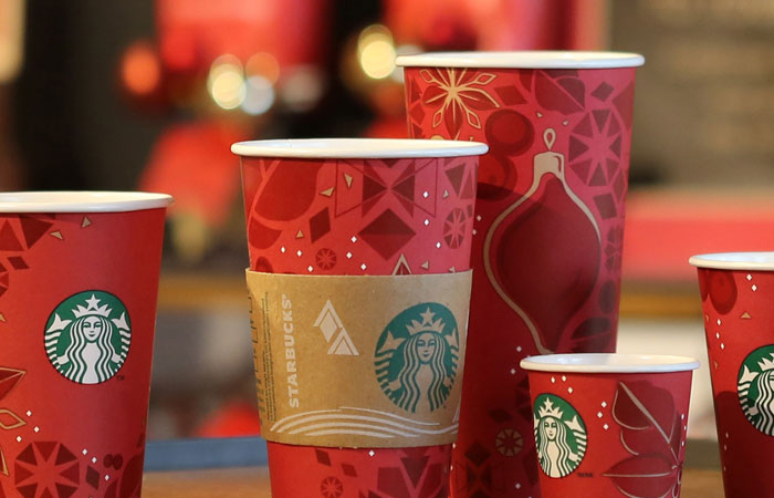 Les verres Starbucks avant 2015 pour Noël