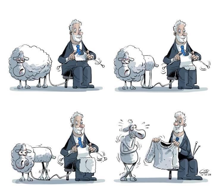 Caricature d'André Philippe Côté, parue dans le journal Le Soleil du 26 octobre 2016.