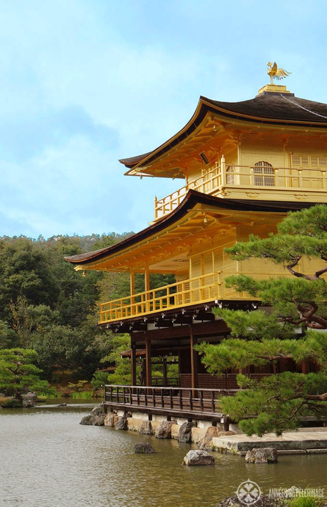 The golden temple called Kinkaku-ji in Kyoto Japan.