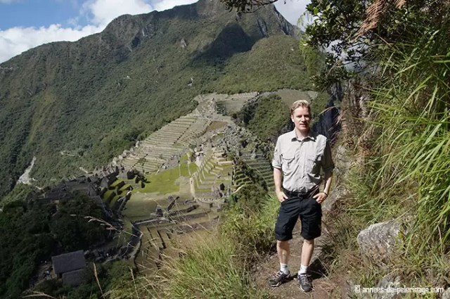 Me climbing huchuy picchu and enjoying the beautiful view on machu picchu