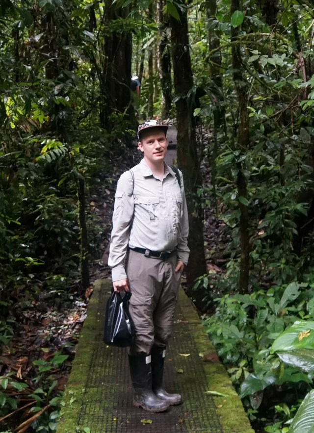 Me at the napo wildlife center in the amazon rain forest. As you can see I did pack long sleeved clothes despite the heat!