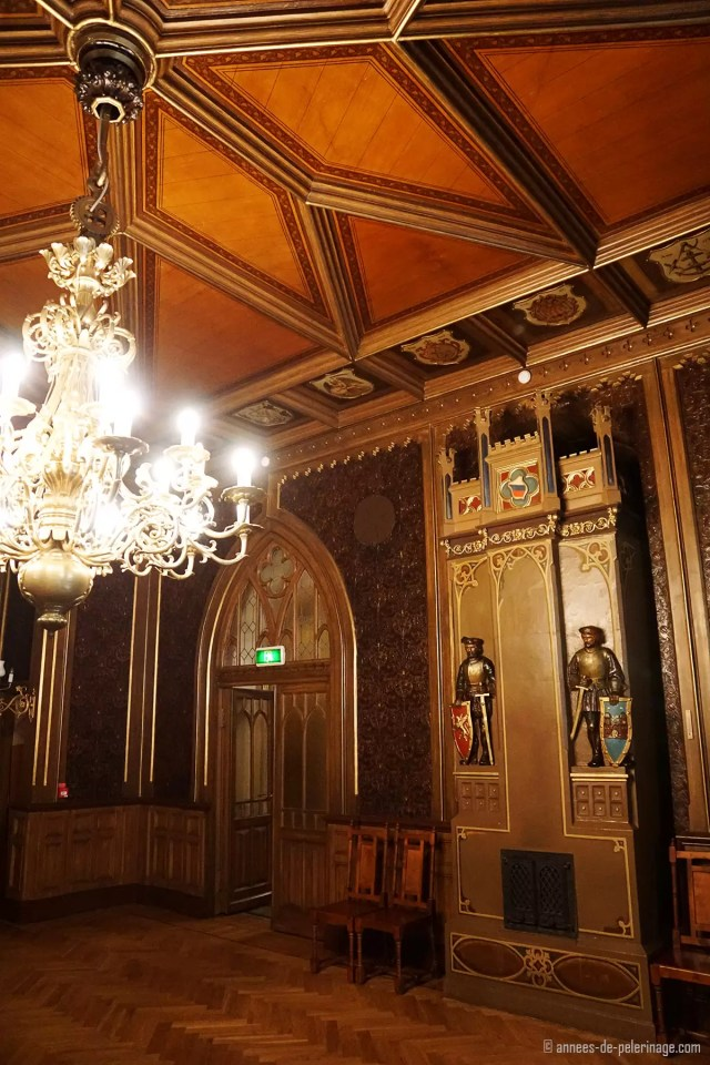 The richly decorated inside of the small guild in Riga - what a beautiful thing to do in Riga