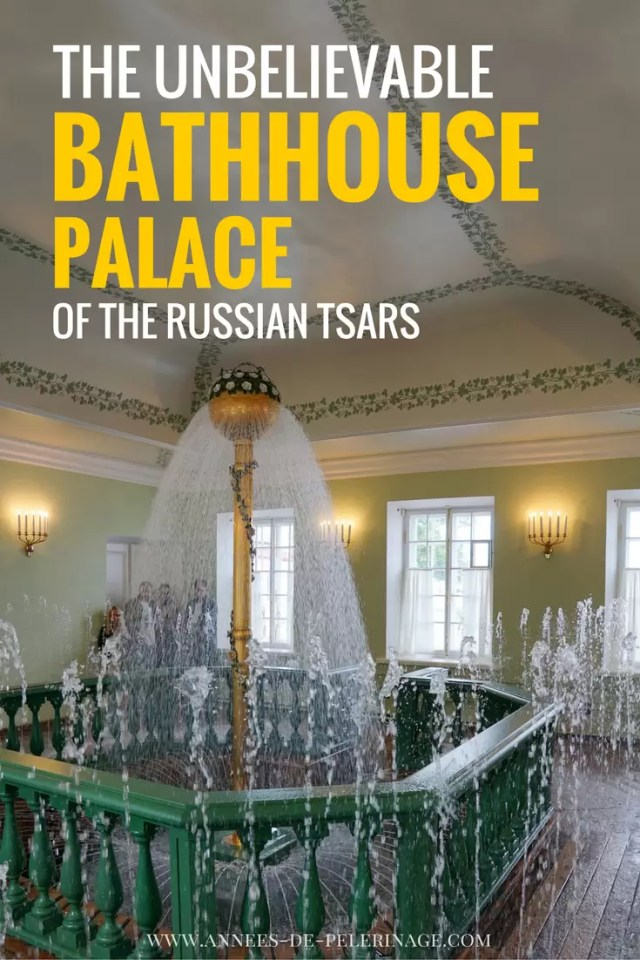 The unbelievable luxury inside the bathhouse of the Russian tsars in St Petersburg Russia. Click for the full tour through Mon Plaisir Palace in Peterhof.
