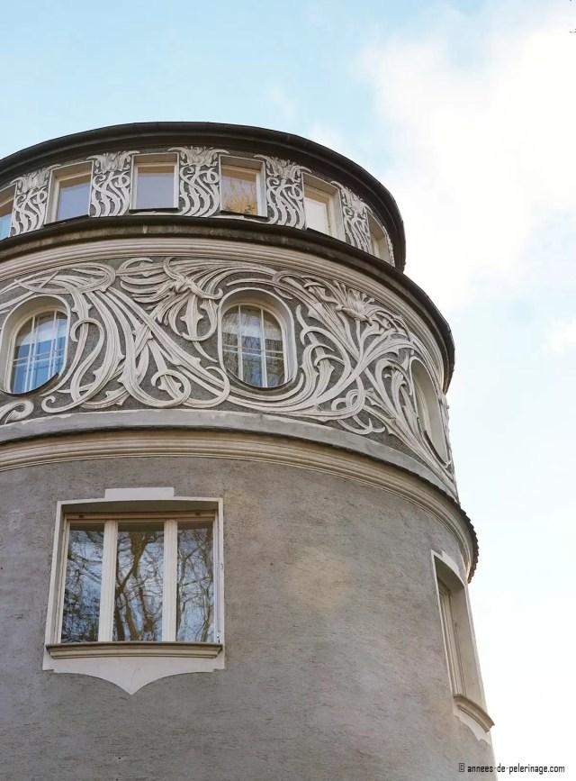 The Art Nouveau Villa Bechtolsheim in Bogenhausen, Munich