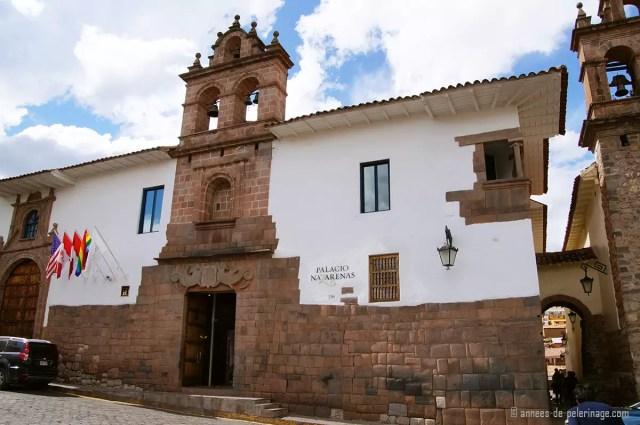 The historic entrance of the Belmond Palacio Nazarenas in Cusco
