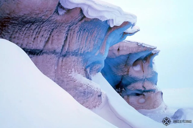 A beautiful ice formation - entrance to an ice cave in Spitsbergen