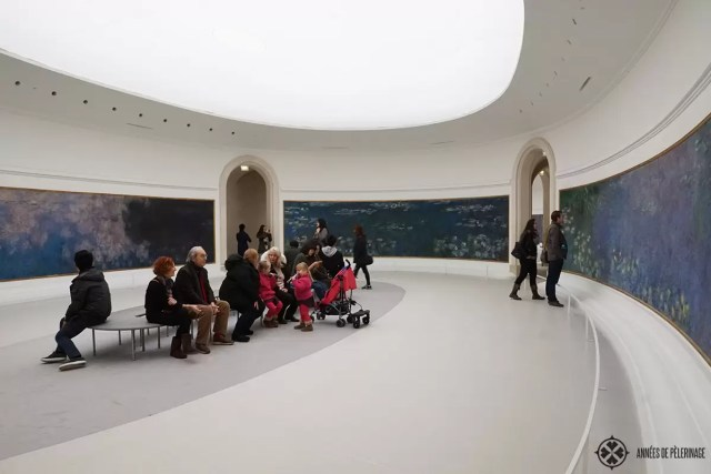 The Musée de l'Orangerie in Paris with its colorful Monet murals