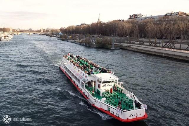 A river cruise (bateaux Mouches) on the Seine, Paris