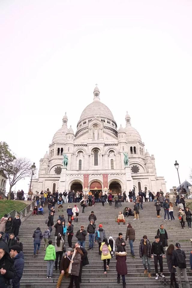Sacre-Coer abutting Montmartre in Paris