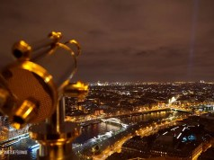 View from the Eifel Tower at night - best view in Paris