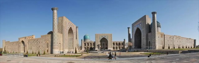 The registan complex in Samarkand Uszbekistan