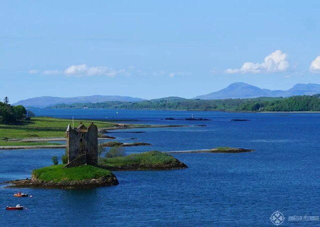 Castle Stalker near Oban in Scotland