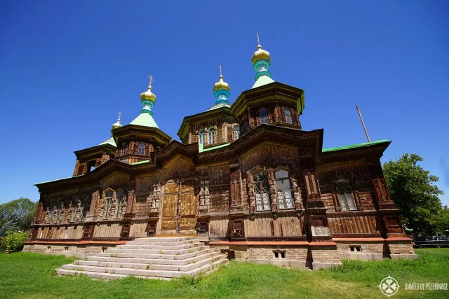 The russian orthodox church in Karakol Kyrgyzstan. If you are looking for things to do in Kyrgyzstan, this should be on your list.