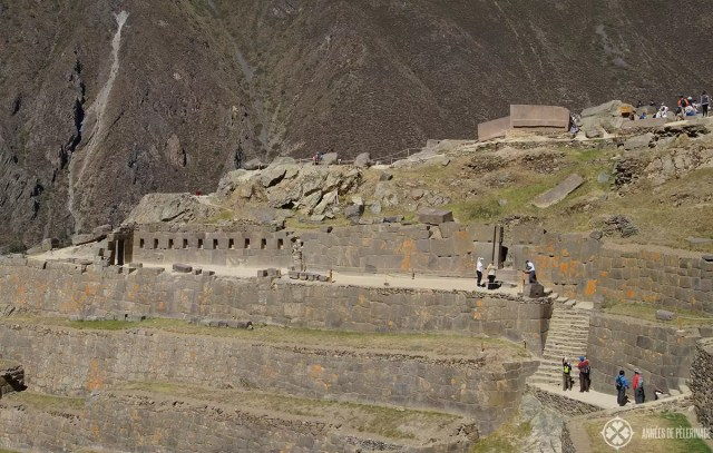 The enclosure of the ten niches in Ollantaytambo, Peru